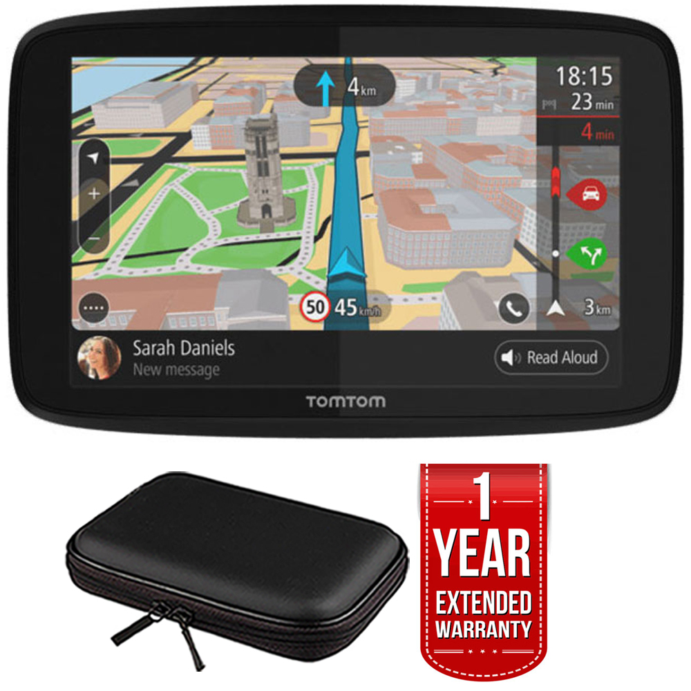 "TomTom GO 620 GPS 6"" Touch Screen (US-CAN-MEX) w/ Hardshell Case and Extended Warranty"
