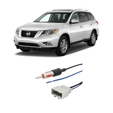 Fits Nissan Pathfinder 08-16 Factory Stereo to Aftermarket Radio Antenna (Nissan Pathfinder Aftermarket)