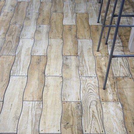 Somertile Xinch Monaco Grey Ceramic Floor And Wall Tile - 12 inch ceramic floor tiles