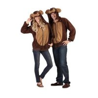 Bailey the Bear Funsie Hoodie Costume for Adult - Large