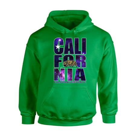 Awkward Styles California Republic Galaxy Hooded Sweatshirt California Galaxy Print Hoodie Cali...