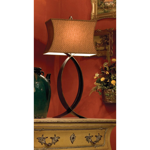 Kenroy Home Pisces Table Lamp, Oxidized Bronze