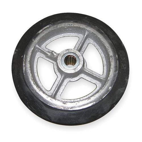 WESCO 108839 Wheel,6 1/2x1 1/2 In,Mold On Rubber