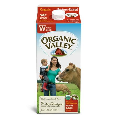 Organic Valley, Organic Whole Milk, Half Gallon