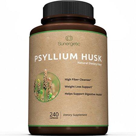Psyllium Husk prime Capsules - 725mg par capsule -240 Capsules - Puissante psyllium Supplément de fibres aide à soutenir la digestion, la santé et la constipation Intestinal - Premium fibres naturelles Capsules