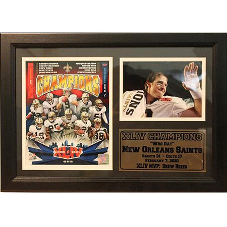 Drew Brees Framed (NFL Drew Brees Photo Stat Frame, 12x18 )