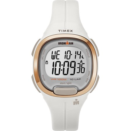Women's Ironman Transit Mid-Size White/Rose Gold-Tone Watch, Resin Strap ()