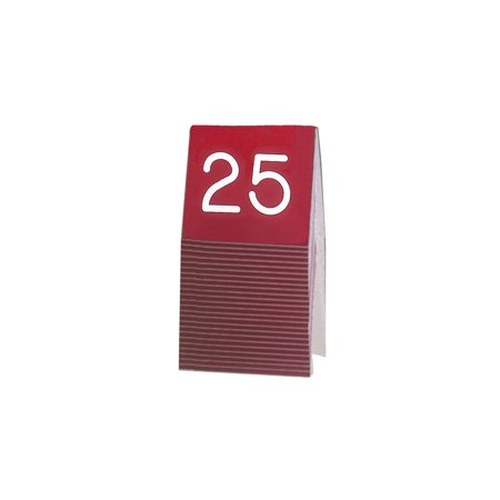cal mil 269a 1 red and white engraved table tent numbers 1 25