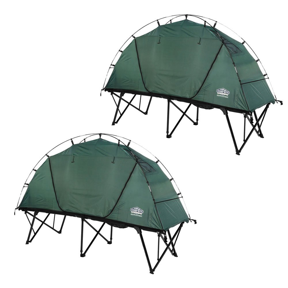 Kamp Rite XL Standard Compact Collapsible Backpacking Camping Tent Cot (2 Pack) by Kamp-Rite