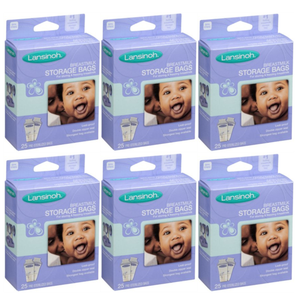 6 Pack - Lansinoh Breastmilk Storage Bags 25 Each