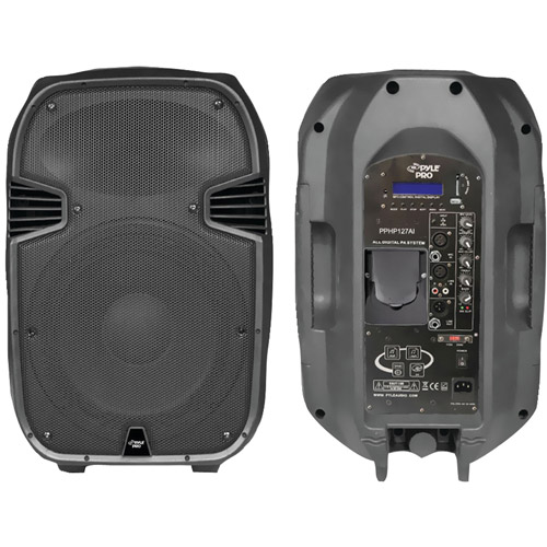 PylePro Pphp127ai 1200W Powered 2-Way Full Range PA Speaker with Built-in iPod Dock