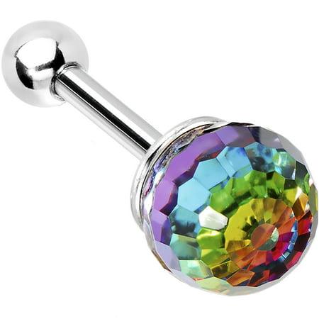 Aurora Rainbow Ball Cartilage Tragus - Tragus Earring