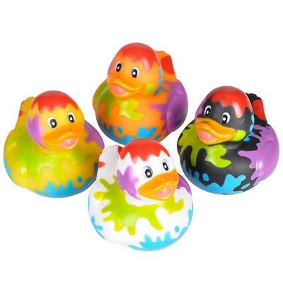Rhode Island Novelty - Rubber Ducks - SPLAT DUCKIES (Set of 4 Styles)](Novelty Rubber Ducks)