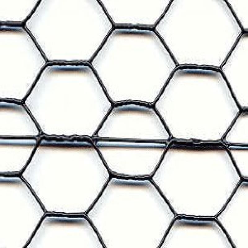 Deer Fence Steel Hex Web Blk PVC Coated - 6' x 150'