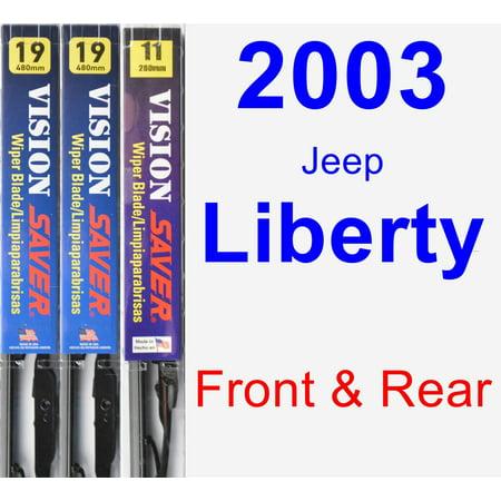 2003 Jeep Liberty Wiper Blade Set/Kit (Front & Rear) (3 Blades) - Vision
