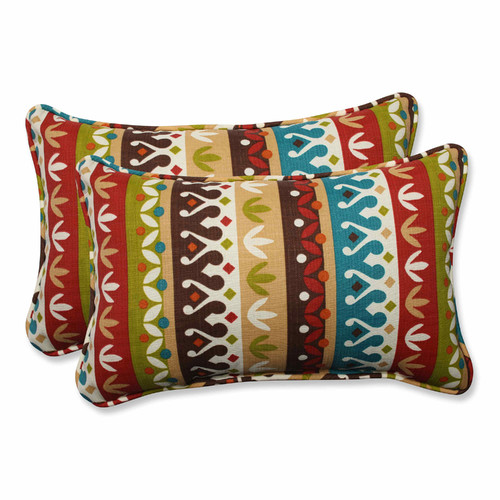 Pillow Perfect Cotrell Rectangular Throw Pillow Set of 2 by Overstock