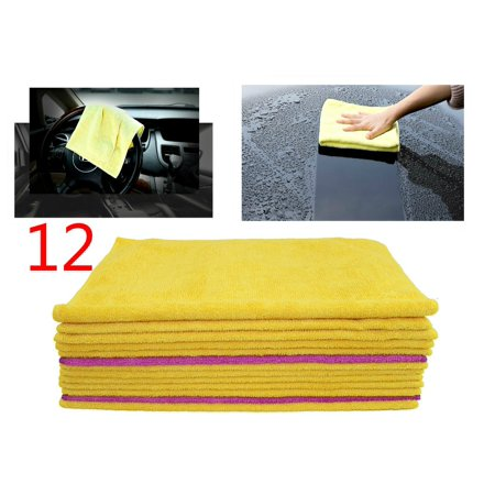 Microfiber Cleaning Towels Cloth Pack of 12, Super Soft Fast Absorbent Auto Cleaning,Polishing,Dusting Kitchen/Bath 12KT00020