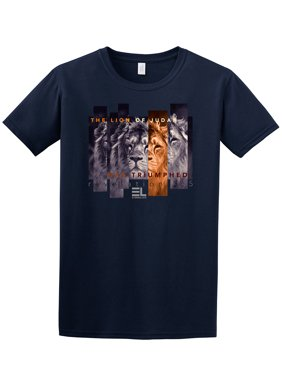 00b3f7123496b3 Product Image The Lion of Judah Has Triumphed Christian Adult T-Shirt