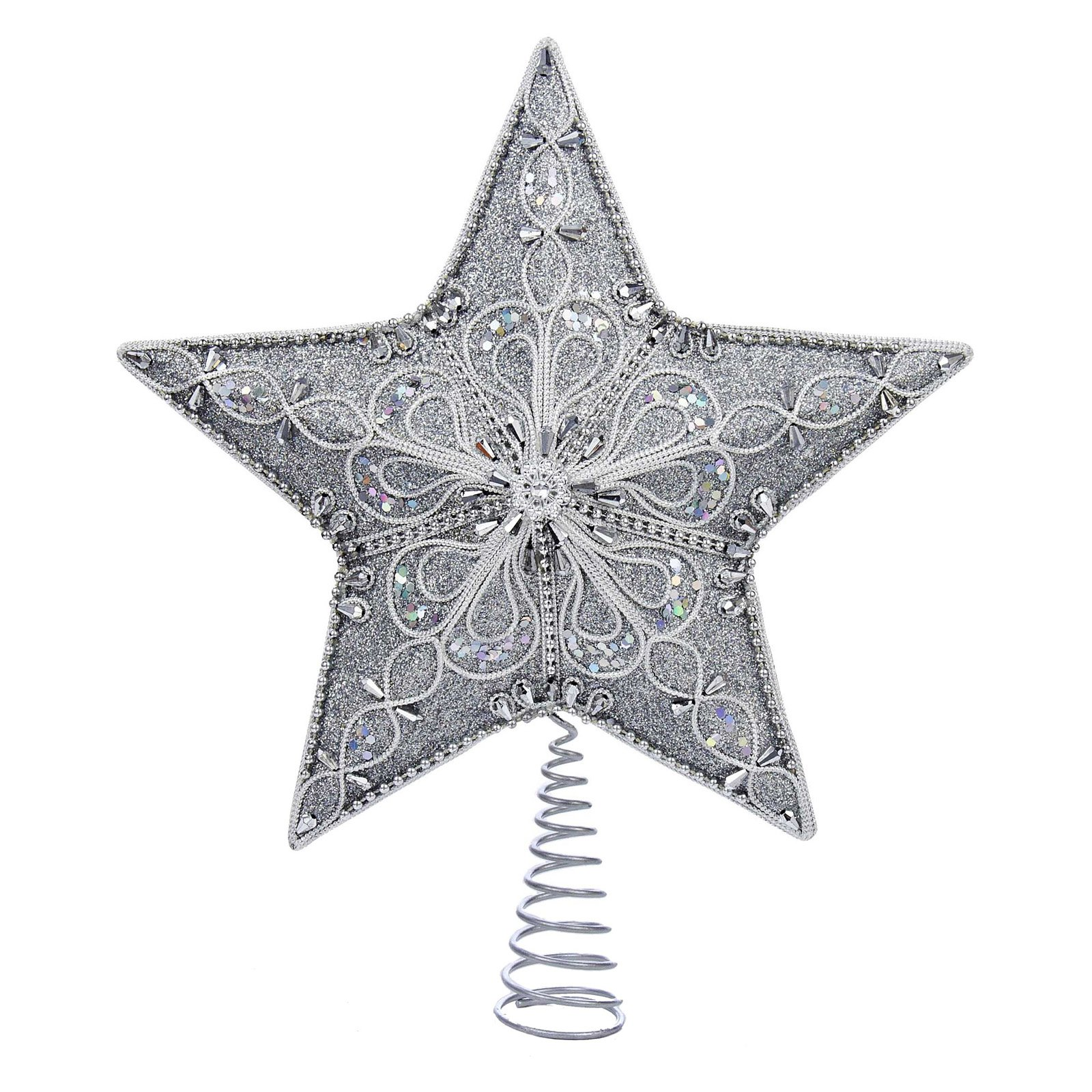 Kurt Adler 13.5 in. Silver Star Tree Topper