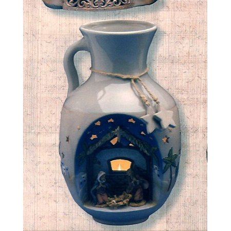 Pitcher Collectible (Fontanini 50113 Pottery Stable Pitcher with Nativity Scene)