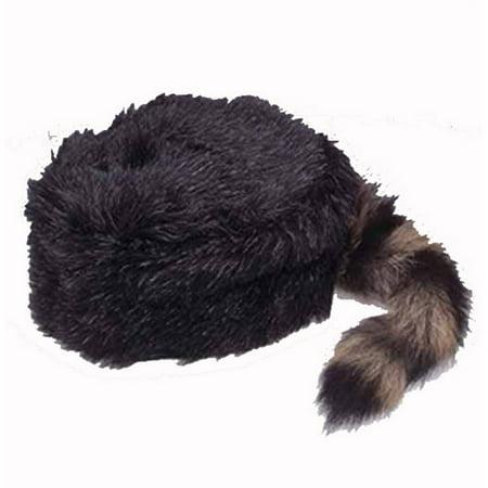 Coonskin Hat Daniel Boone Cap J14296 - Small - Small Top Hats