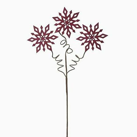 - Kurt Adler Red Snowflake Pick