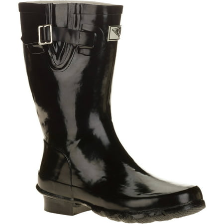 Blue Womens Snowboard Boots - Forever Young Women's Short Shaft Rain Boots