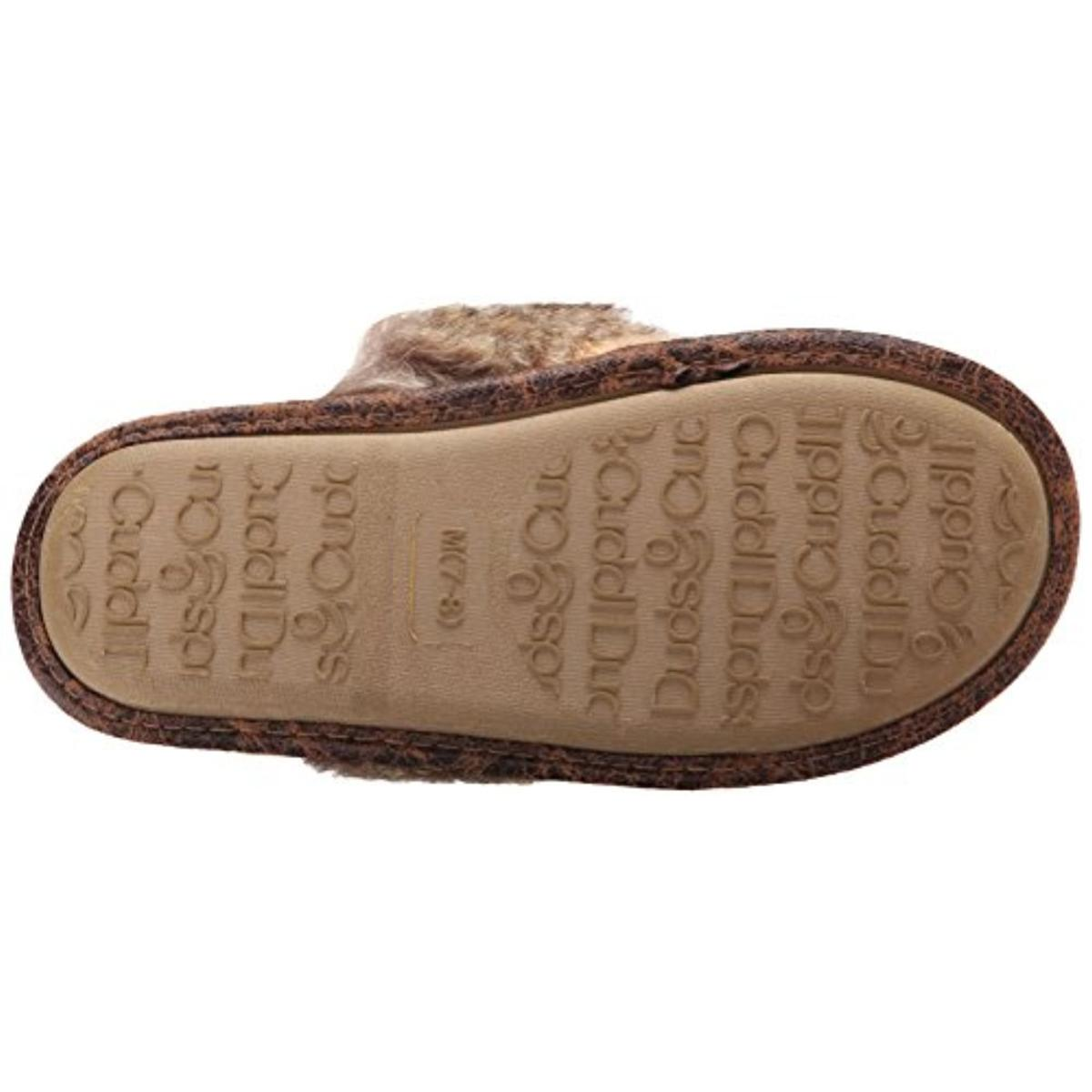 Cuddl Duds Womens Basket Knit Scuff Wool Comfort Foam Slide Slippers