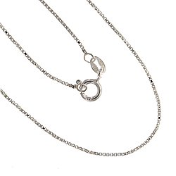 Sterling Silver Venetian .9mm Box Chain 20 Inch with