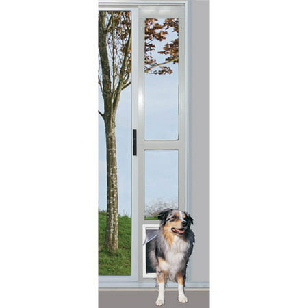 Ideal Modular Aluminum Patio Pet Door White Extra Large For Pets To