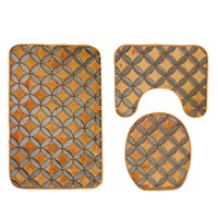 """Bathroom Mats and Rugs Sets - Extra Soft Shower Bath Rugs Mat 31""""x19""""/Contour Mat 19""""x15""""/ Toilet Lid Cover 17""""x15"""" , Washable Non Slip Mat Set for Kitchen, Shower, and Toilet, I5677"""