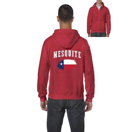 Mesquite Texas Men Full Zip Hooded Sweatshirt