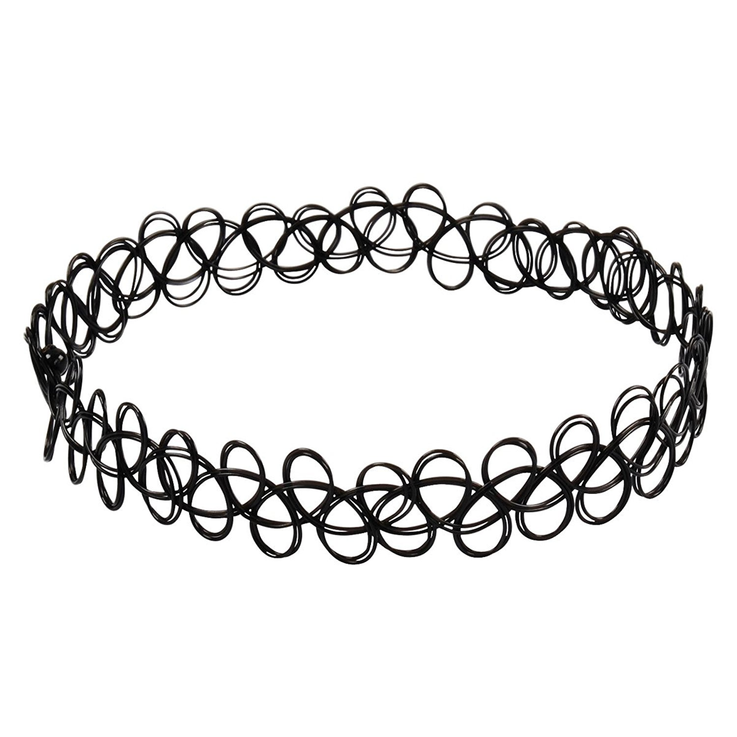 Generic Jane Stone Choker Black Stretch Gothic Tattoo