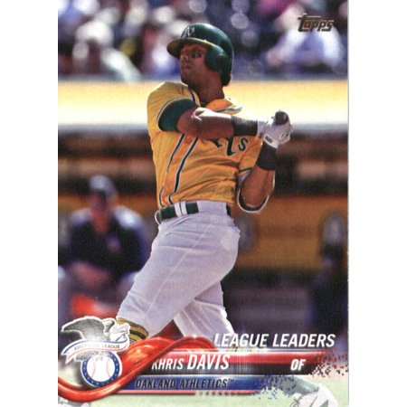 2018 Topps #218 Khris Davis Oakland Athletics Baseball Card