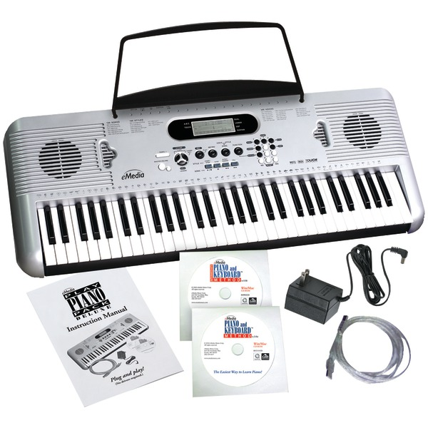 eMedia Music eMedia Play Piano Pack Deluxe with USB MIDI Keyboard, and 2 CD-ROM Set (Win ... by Overstock
