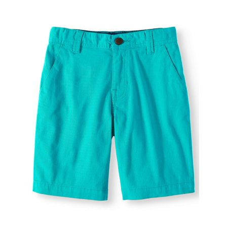Wonder Nation Flat Front Boys Short, Aquacade Blue