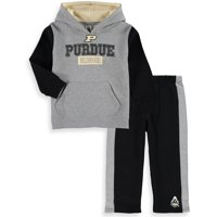 Purdue Boilermakers Colosseum Toddler Back To School Fleece Hoodie And Pant Set - Heathered Gray/Black