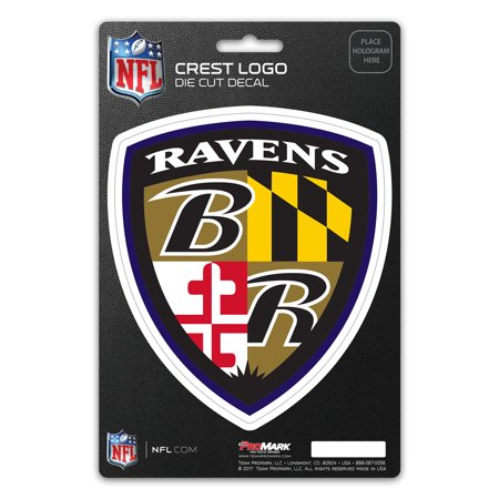 Baltimore Ravens Crest Logo Shield Decal - No Size