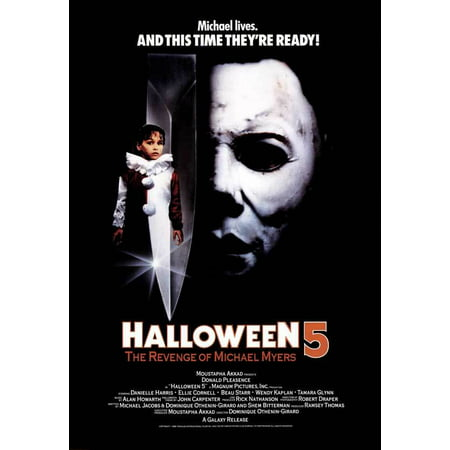 Michael Jackson Halloween Costume For Toddler (Halloween 5: The Revenge of Michael Myers POSTER (11x17) (1989) (Style)