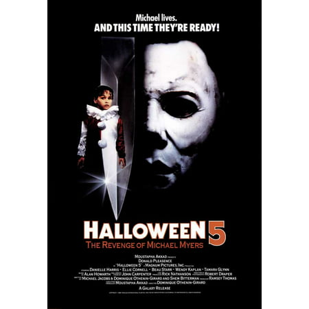 Halloween Wallpaper Michael Myers (Halloween 5: The Revenge of Michael Myers (1989) 11x17 Movie)
