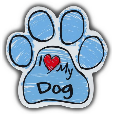 Scribble Paw Dog Magnets: I Love My Dog | Cars, Trucks, Refrigerators ()