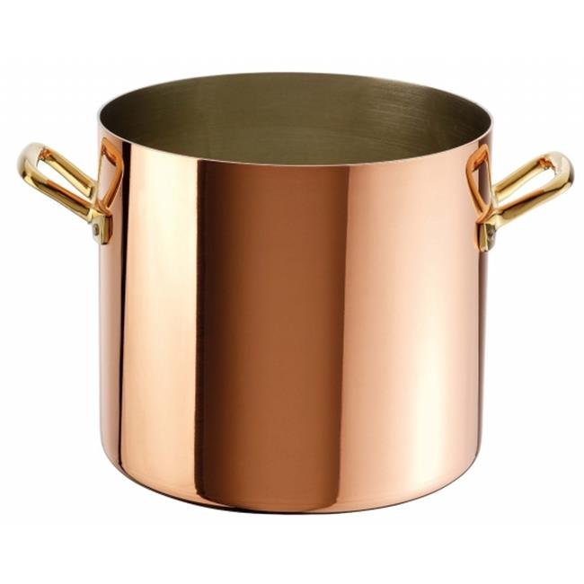 Paderno World Cuisine 15301-22 Stock Pot, Copper Tin