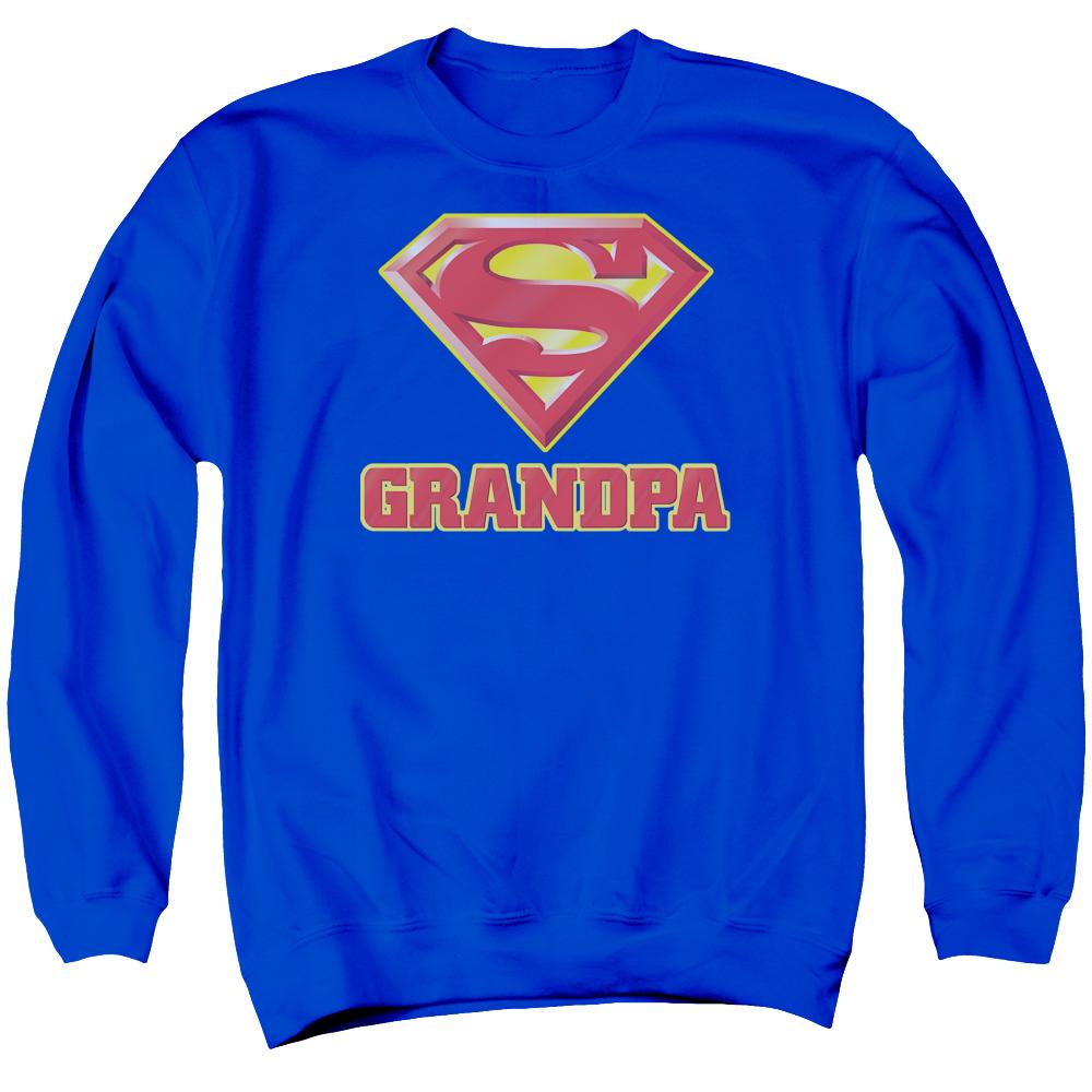 SUPERMAN/SUPER GRANDPA - ADULT CREWNECK SWEATSHIRT - ROYAL BLUE - XL