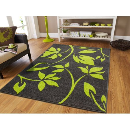 Fashion Green Rugs For Living Room Gray 5x7 Area Flowers Dynamix Modern Rug Floor