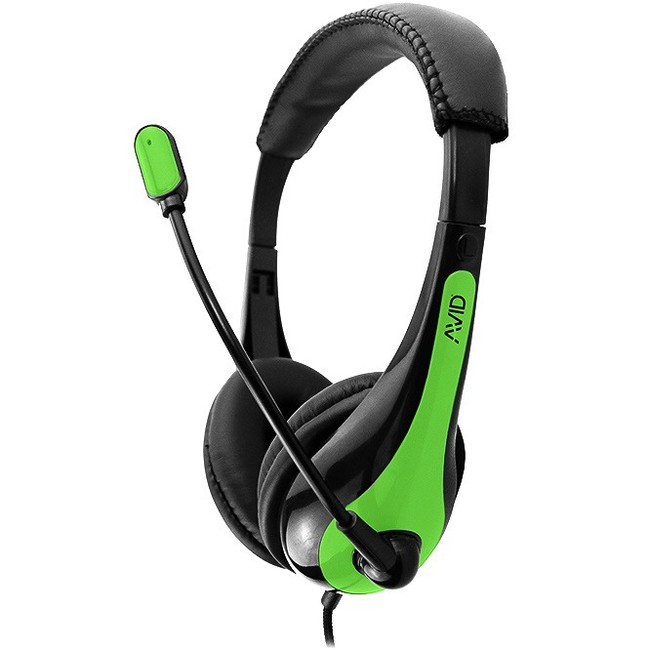 Ergoguys Headset with Noise Canceling Microphone and 3.5MM Plug, Green