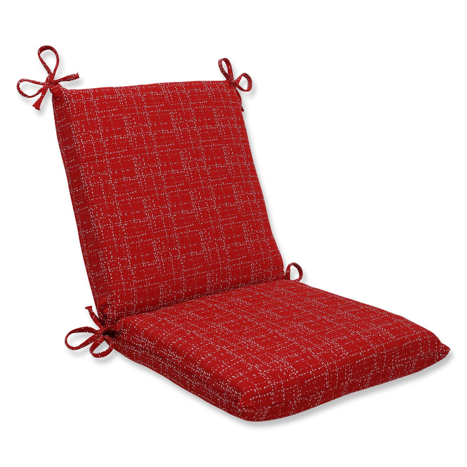 "36.5"" Bella-Dura Conran Red Dashed Lines Outdoor Patio Squared Chair Cushion"