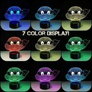3D LED TMNT Ninja Turtles Touch Sensor Lamp with USB 7 Color Change Night Light Desk Bedroom Decor Gift Holiday Kids