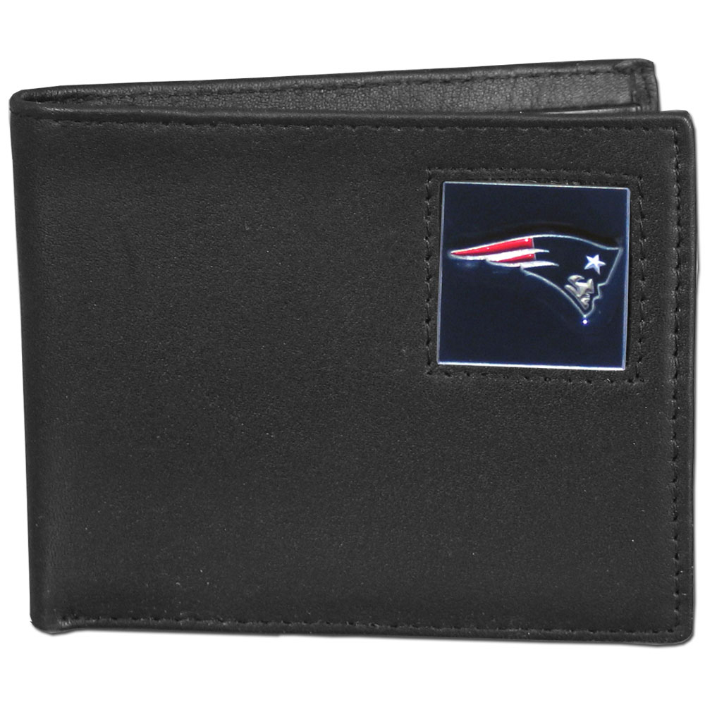 New England Patriots Official NFL Bi fold Wallet in Tin by Siskiyou 391200