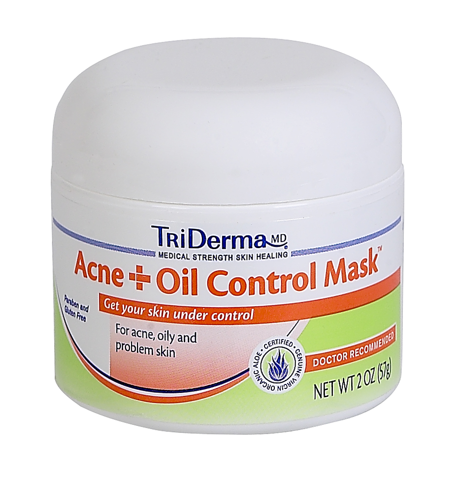 TriDerma® Acne + Oil Control Mask™, Exfoliates, Helps Unclog Pores, & Helps Reduce Oil (2 oz)