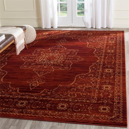 "Safavieh Serenity 5'1"" X 7'6"" Power Loomed Rug in Ruby and Gold - image 4 de 5"